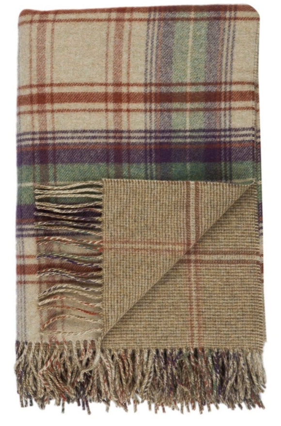 Lambswool Teviot Double Face Check Throw