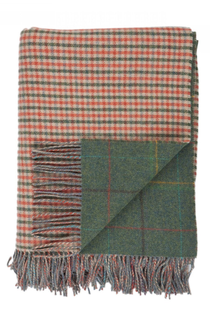 Lambswool Spey Check Double Face Throw