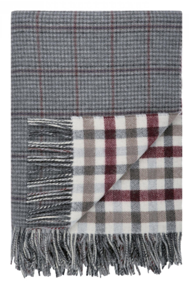 Lambswool Tay Double Face Check Throw