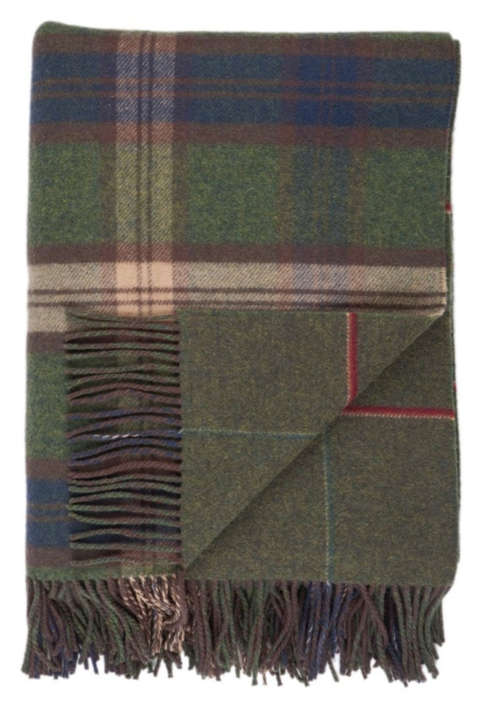 Lambswool Forth Double Face Check Throw