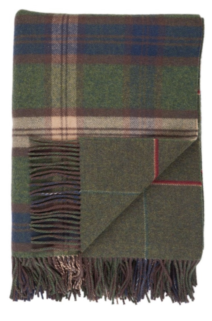 Lambswool Double Face Check Throw | Forth