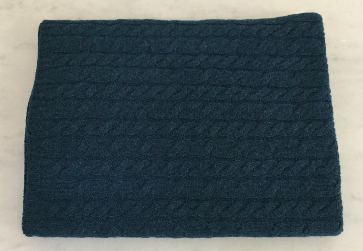 SCA 3-Ply Cable Knit Poncho - Teal