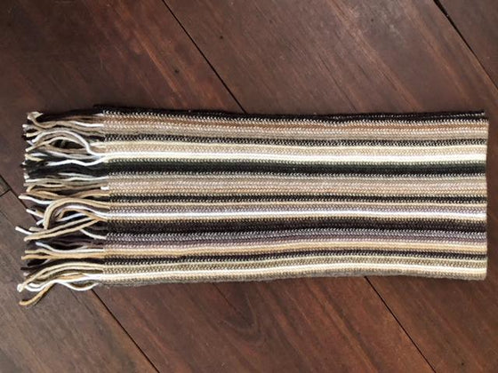 Skinny Cashmere Scarf - Taupe
