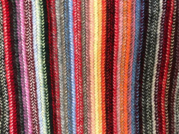 Skinny Cashmere Scarf - Multi Coloured