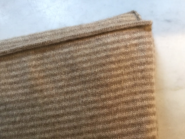 SCA Travelwrap - Dark Natural / Swansdown Stripe