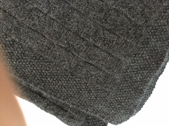 SCA 3-Ply Cashmere Chevron Scarf - Charcoal