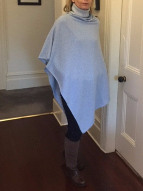 SCA 2-Ply Poncho - Powder Blue