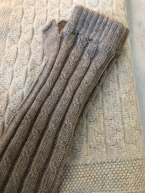 SCA 3-Ply Cashmere Chevron Scarf - Natural
