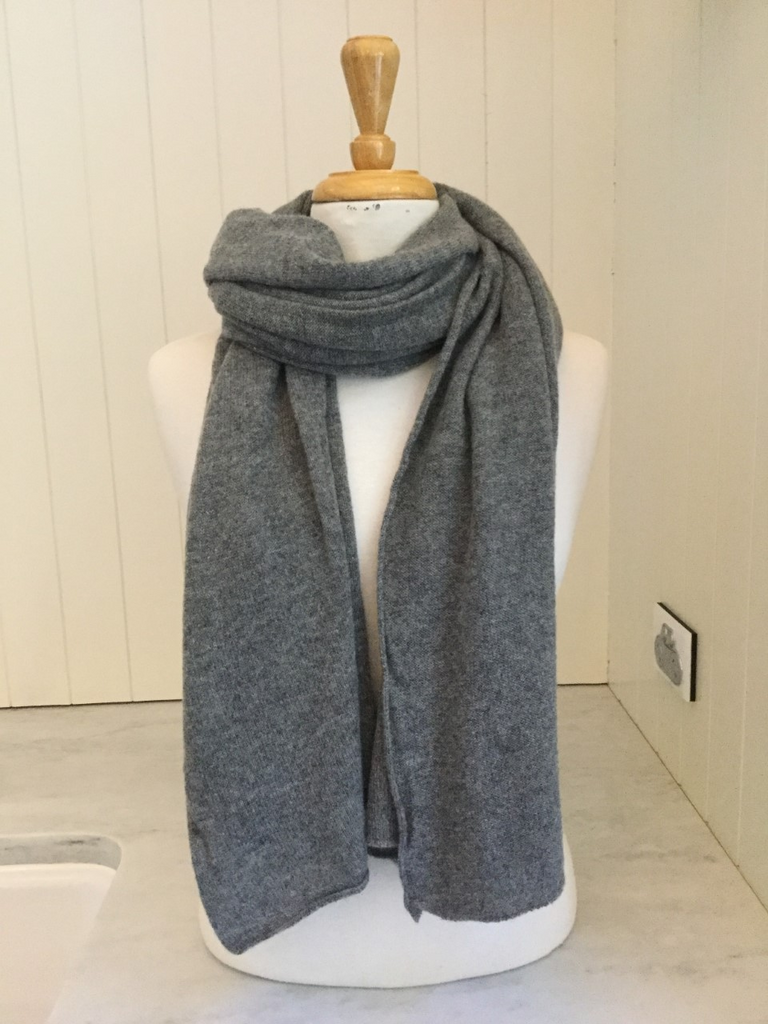 SCA Cashmere Stole - Mid Grey