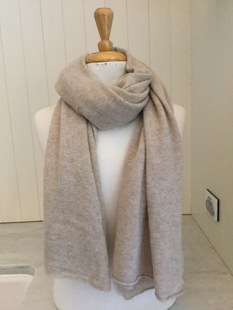 SCA Cashmere Stole - Natural Light
