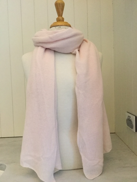 SCA Cashmere Stole - Palest Pink