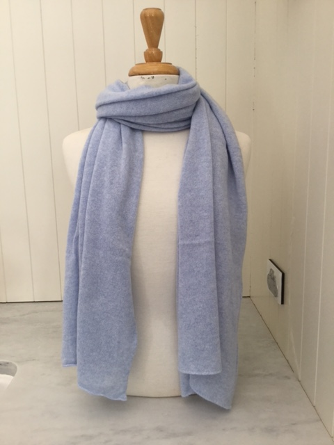 SCA Cashmere Stole - Powder Blue