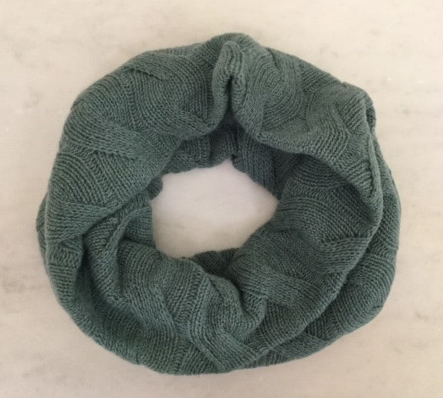 SCA Classic Cashmere Snoods - Sea Green