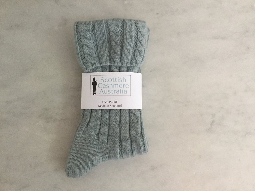 SCA Cashmere Cable Knit Socks