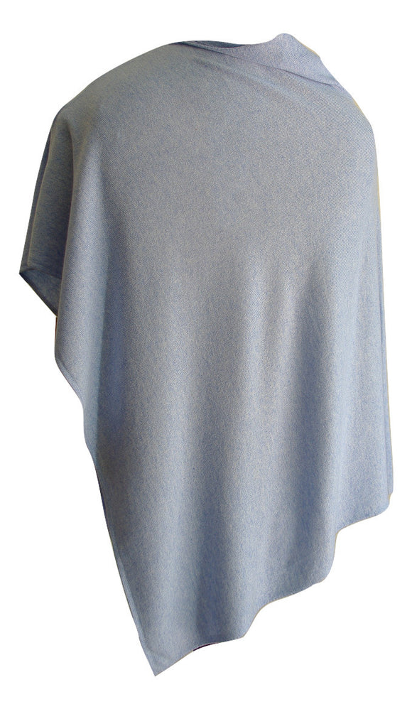 SCA 2-Ply Poncho - Duck-Egg Blue