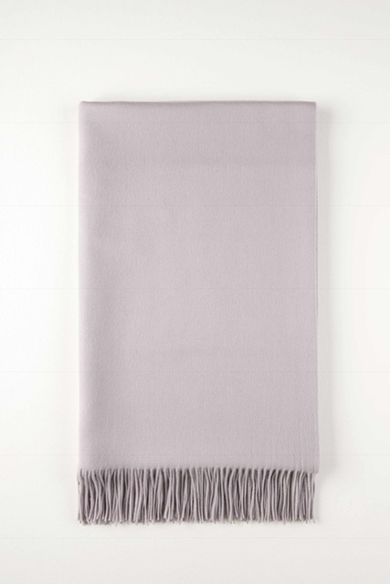 Johnston's Pale Lavender cashmere bed throw