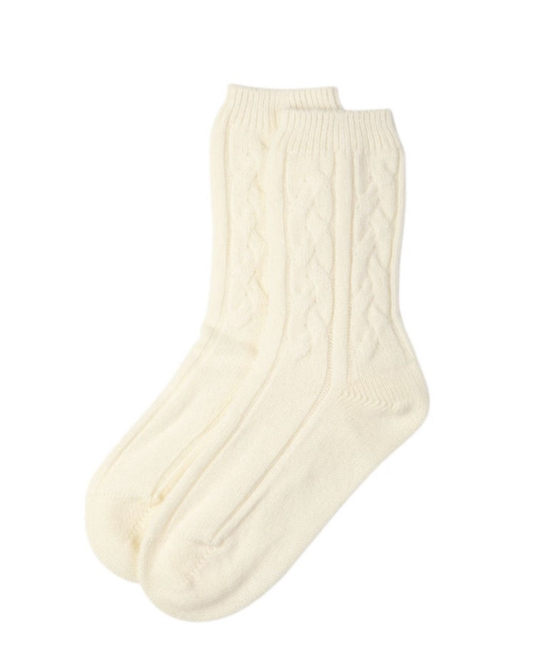Cashmere Cable Knit Socks