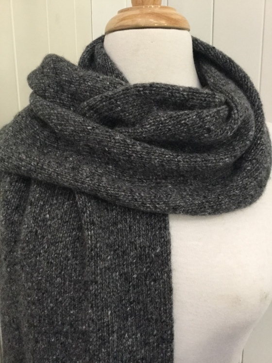 6-ply Scarf | Donegal Anthracite