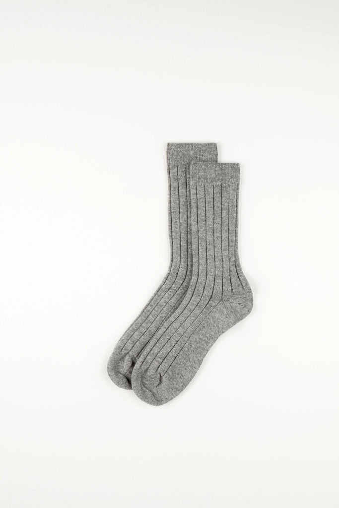 Cashmere Mens Ribbed Socks