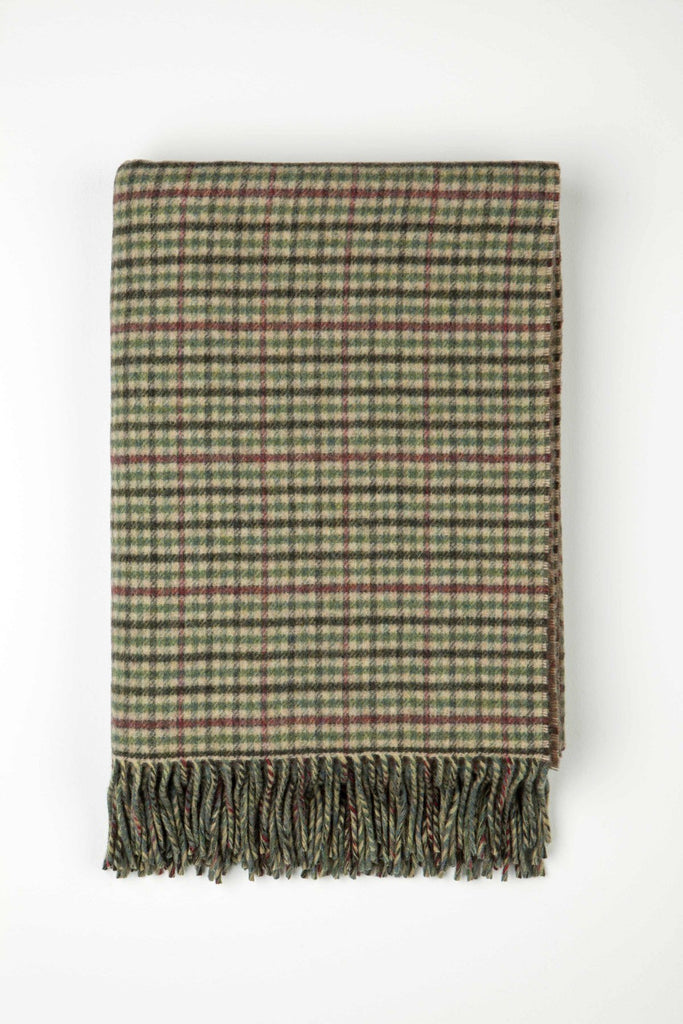 Lambswool Double Face Check Throw | Lossiemouth