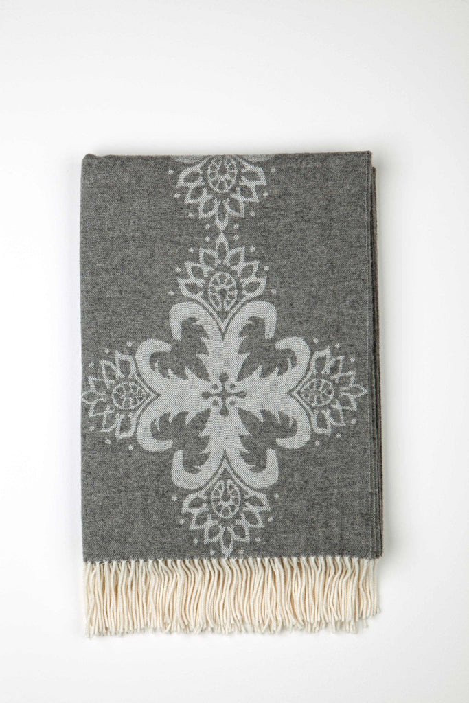 Merino Blend Talisman Pewter Throw