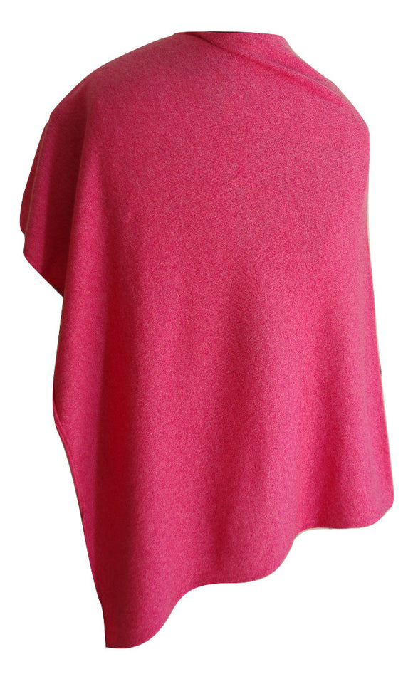 SCA 2-Ply Poncho - Hot Pink