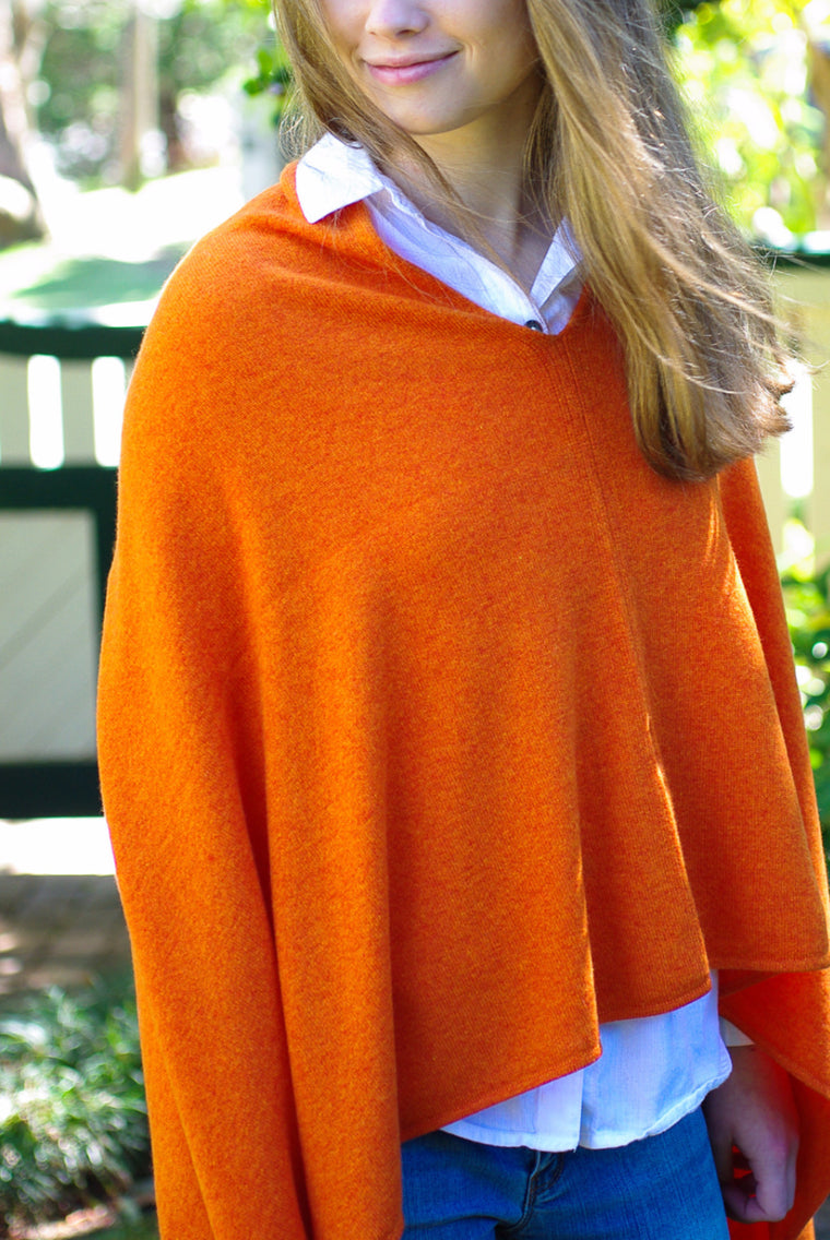 SCA 2-Ply Poncho - Burnt Orange