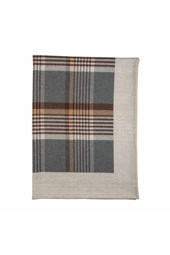 Lambswool Glen Demin Blanket Stitched Throw