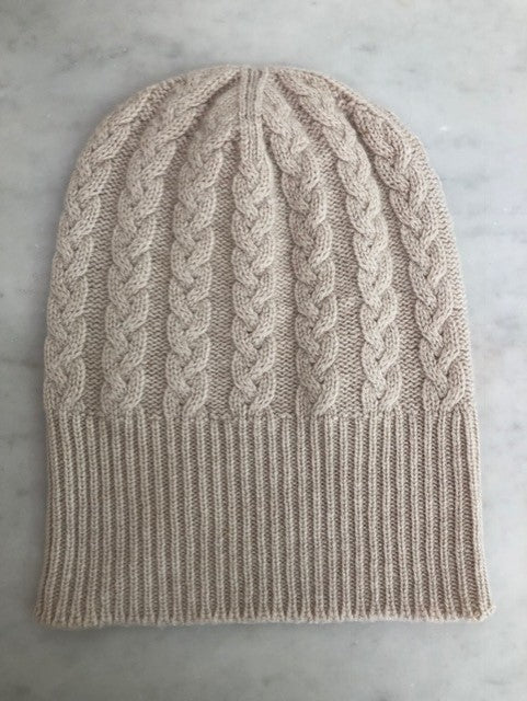 3-ply Beanies | Swansdown Cable Knit