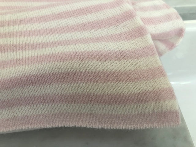 SCA Travelwrap - Rose Tea Pink + White Stripe