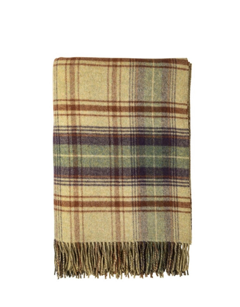 Lambswool Double Face Check Throw | Teviot