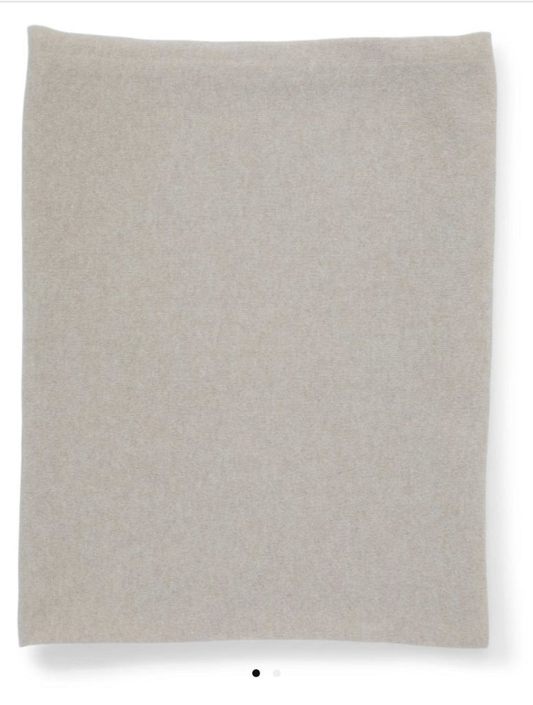 Cashmere Gauzy Knit Throw - Barley