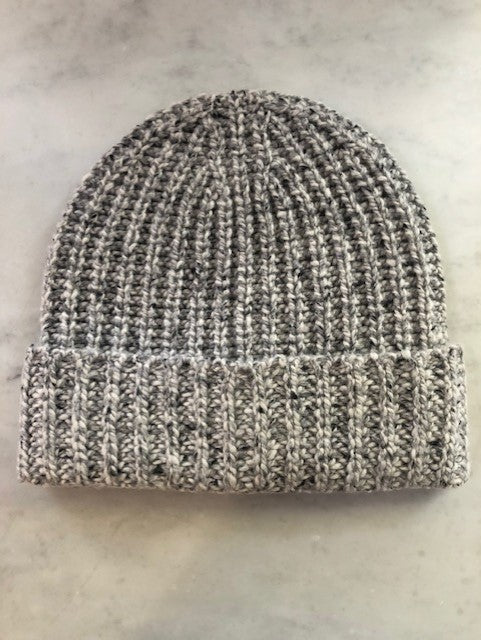 Unisex chunky Donegal Cashmere Ribbed Hat