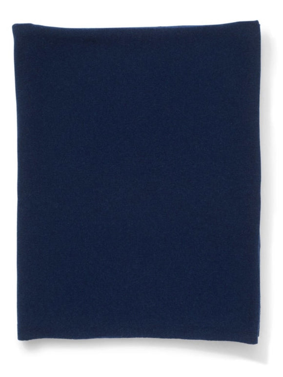 Cashmere Gauzy Knit Throw - Navy