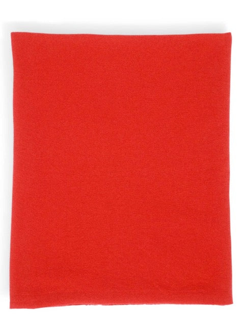 Cashmere Gauzy Knit Throw - Red