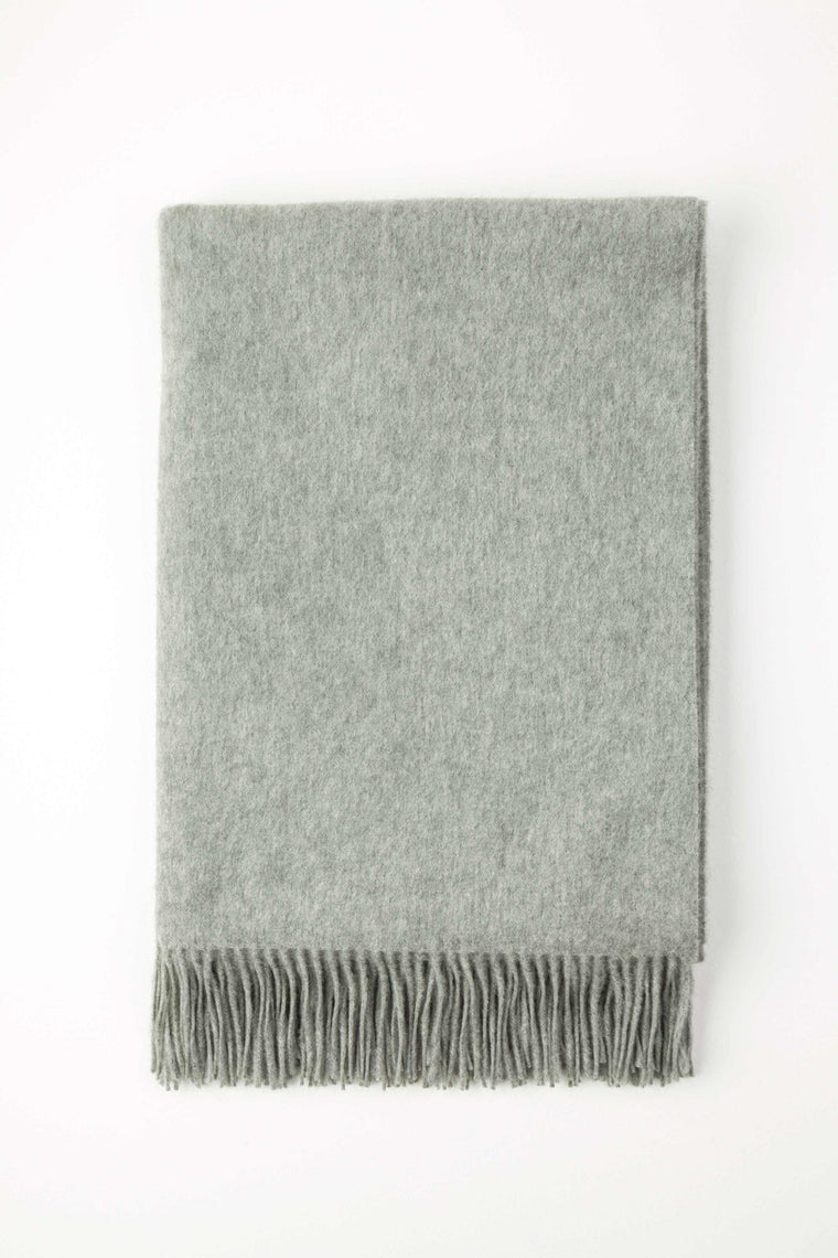 Cashmere Light Grey Plain Throw