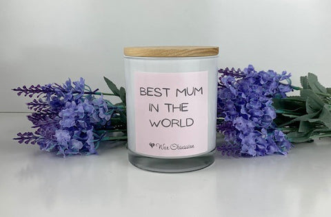 Quote Candle - Best Mum In The World