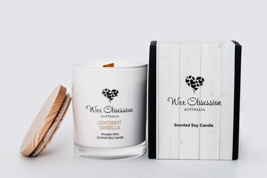 Coconut Vanilla - Wooden Wick Candle