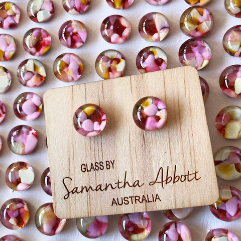 Samantha Abbott - Bouquet glass stud earrings