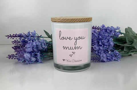 Quote Candle - Love You Mum