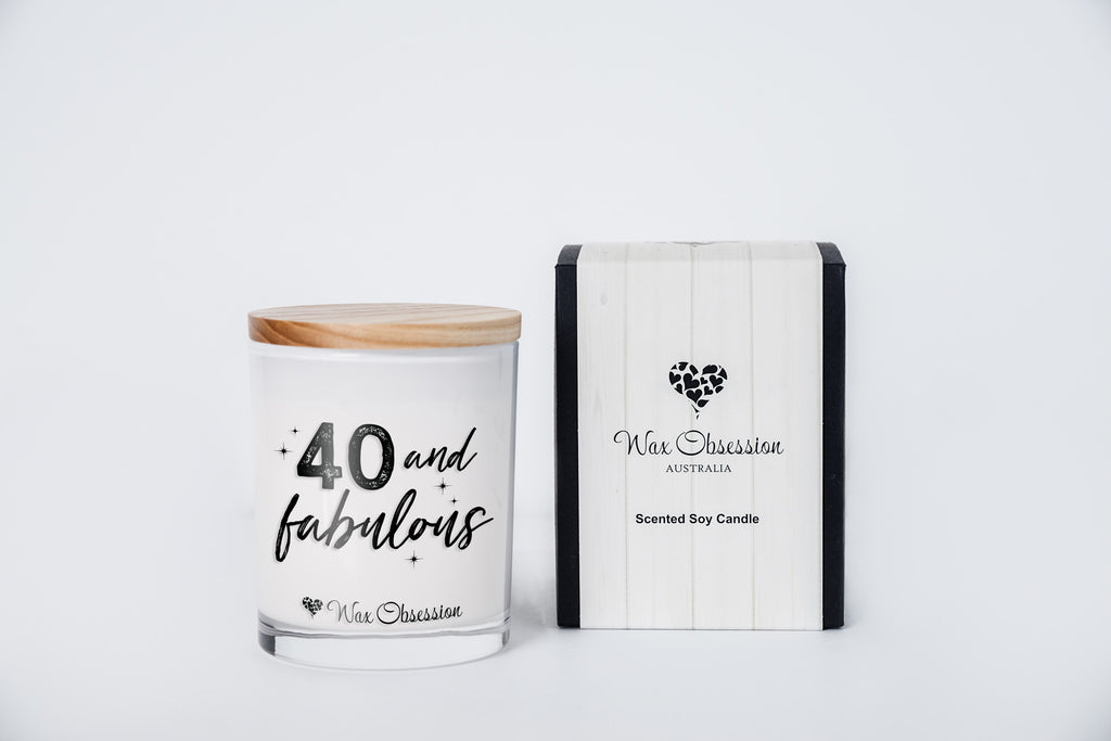 Quote Candle - 40 & Fabulous