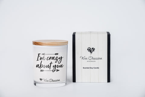 Quote Candle - I'm Crazy About You