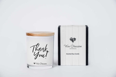 Quote Candle - Thank You