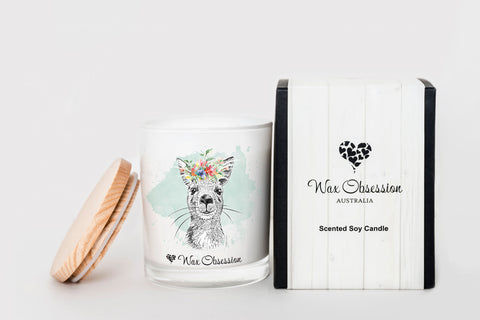 Wildlife Candle - Kangaroo...Black Raspberry & Vanilla