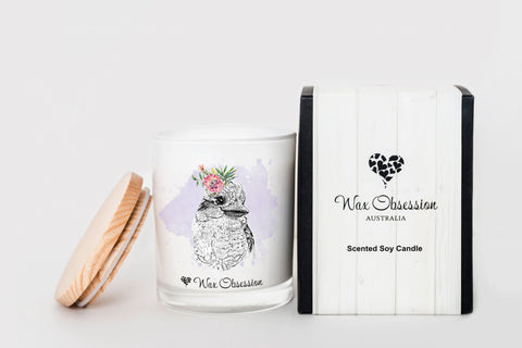 Wildlife Candle - Kookaburra...Lemongrass & Citrus