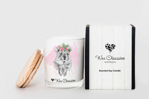 Wildlife Candle - Quokka...Champagne & Strawberries