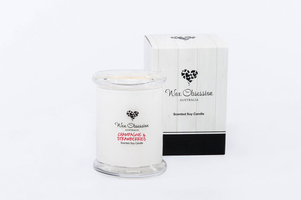 Champagne & Strawberries Small Candle