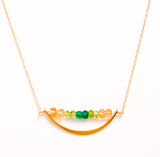 24k Gold Vermeil Crescent Moon Necklace