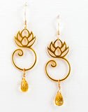 24k gold vermeil charm holder lotus earrings