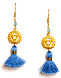 24k Gold Vermeil Chakra Tassel Earrings